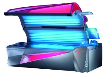 Triple facial tanning bed